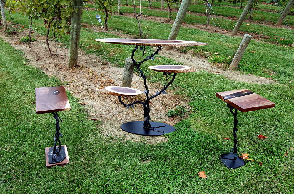 Vineyard series tables by Eau Claire Woodworks