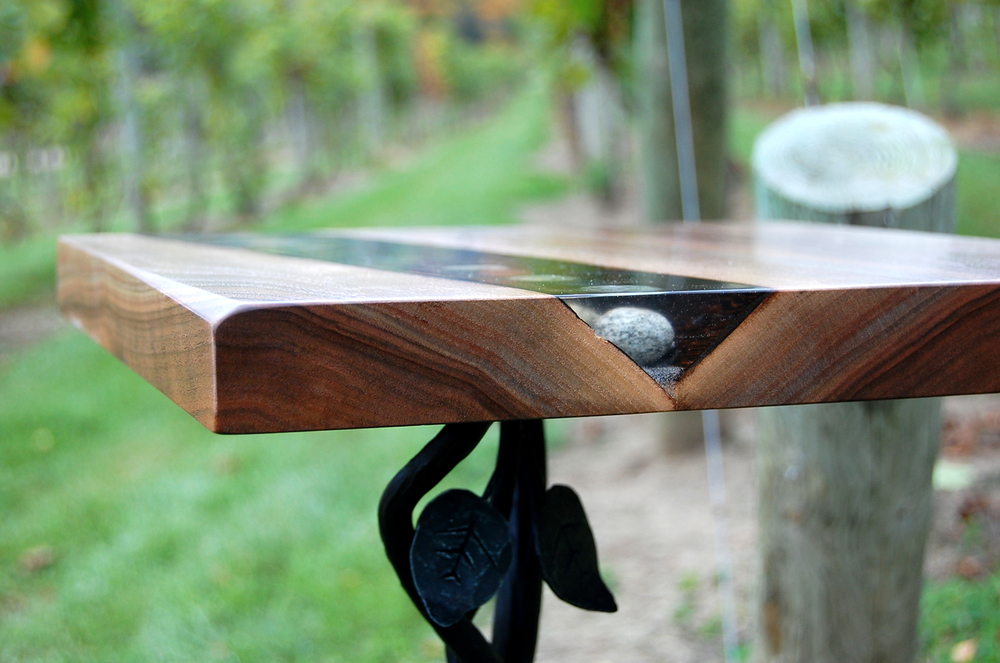 Vineyard Pedestal Table by Eau Claire Woodworks