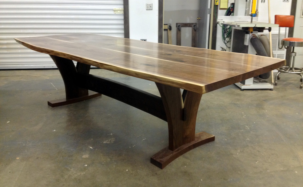 Custom Walnut Dining Table by Eau Claire Woodworks