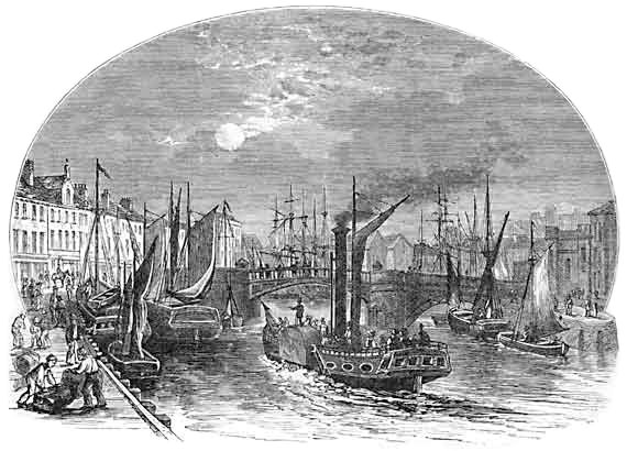 Etching of the docks