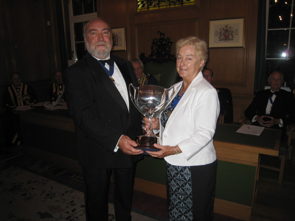 PME James Walker & Assistant Cynthia Flower - Presentation of the Walker Cup