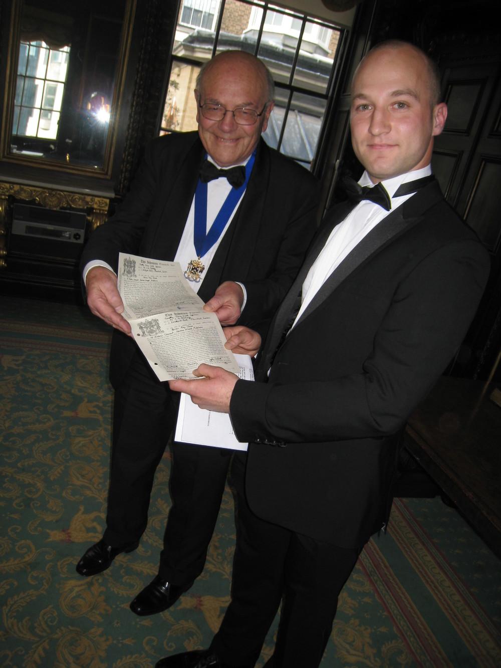 PME Brian Jones with his Apprentice Timothy Copeman