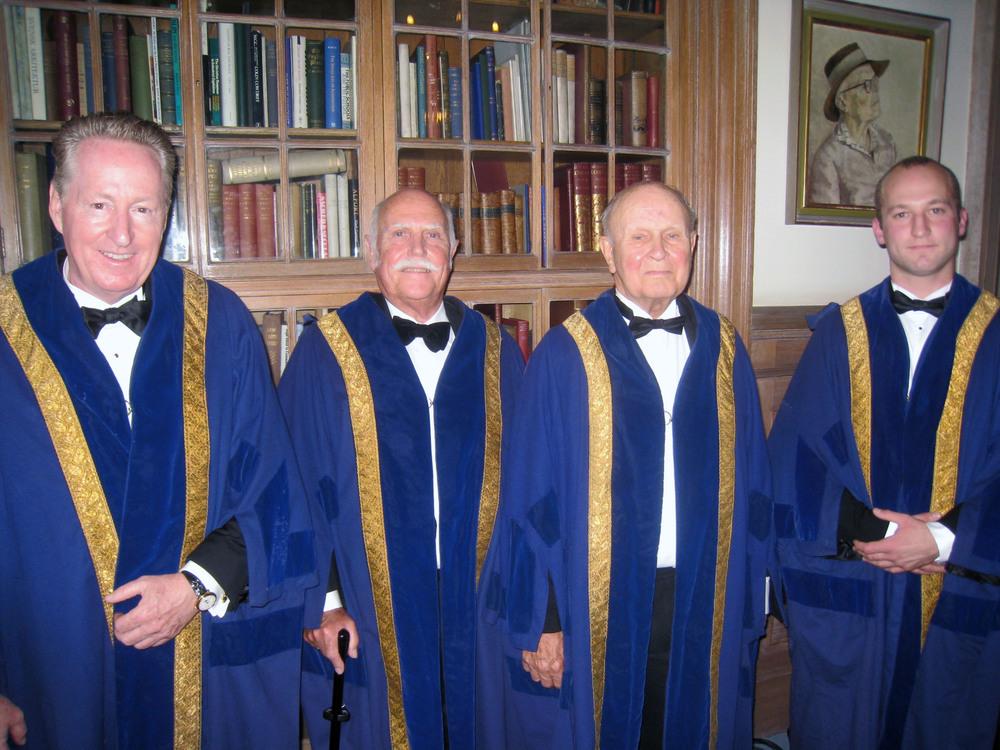 New Liverymen (L-R) Dr Till Becker, John Fetterroll, Keith Chapman, Timothy Copeman