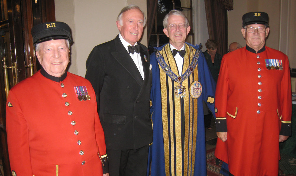 (l-r) Chris Melia, Col. Nigel Gilbert, The Master, Nick Clerk