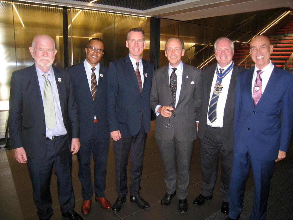 Sean Boyle, Simon Stephenson, John Steel, Ald. Charles Bowman, The Master & Peter Twist