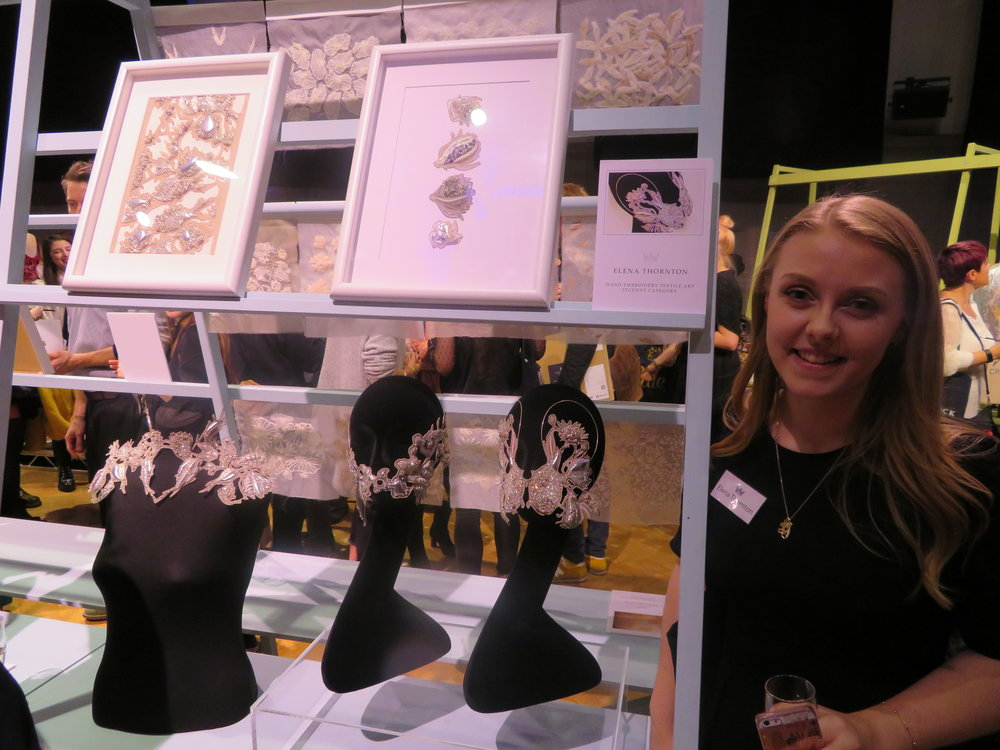 Elena with her award winning entries
