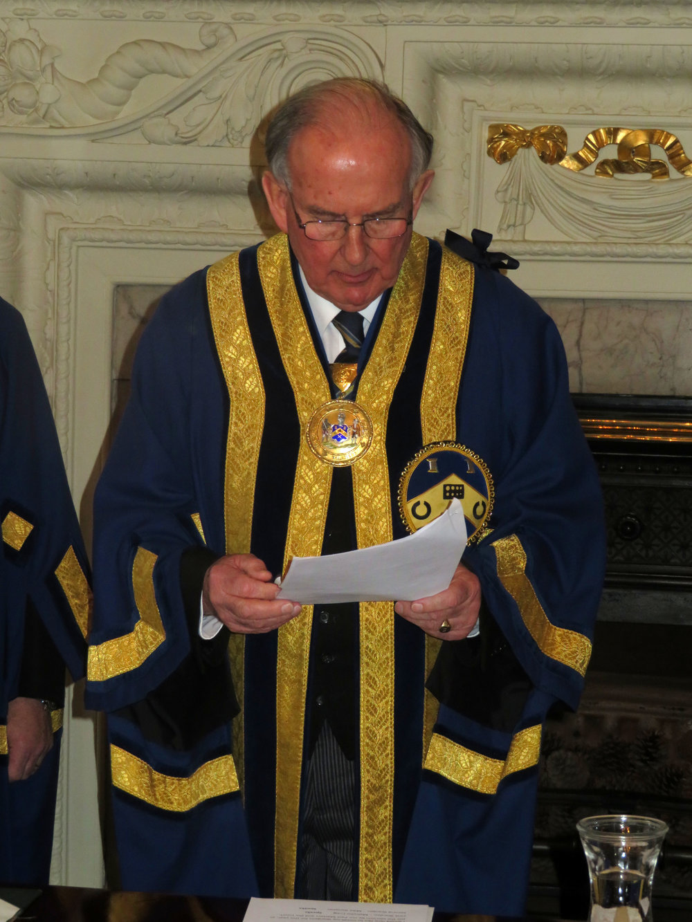 First Warden John Walsham swearing the Oath to become The Master
