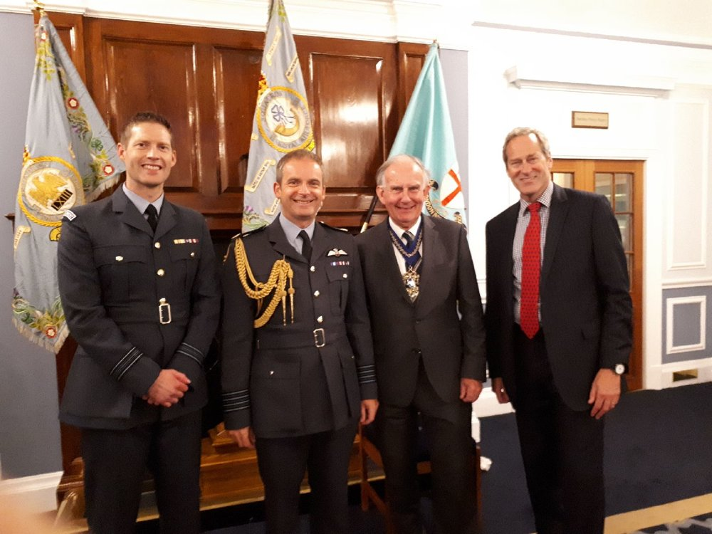 Squadron Leader Ben Alcock, Group Captain Mike Carver, The Master & Air Cdre Paul Hughesdon