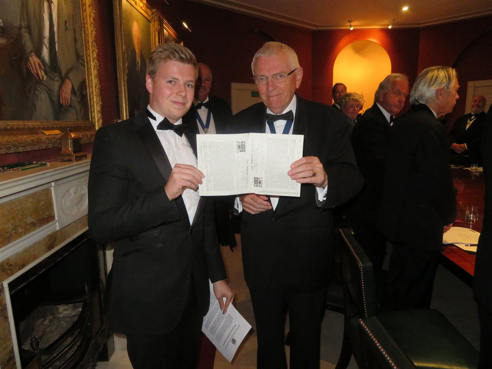 Apprentice Christopher Edgcumbe with his Master