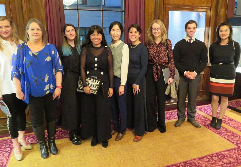 (left-right) Liigah Thrower, Teri Howes, Ellizavet Messi, Bella Lane, kyosun Jung, Lucie Gledhill, Laura Baverstock, Patrick Davison, Nan Nan Liu