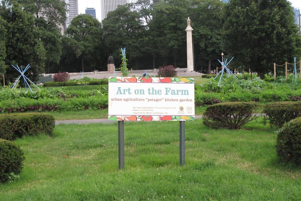 Chicago seyahatimizde Hande'nin görüp fotoğrafladığı kollektif tarım bahçesi