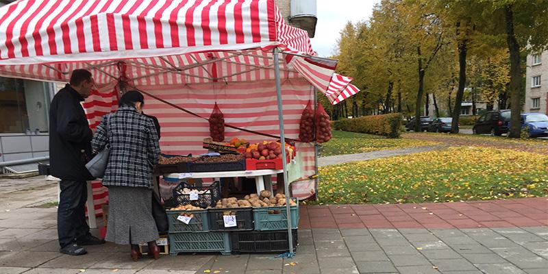 Šiauliai pazarından bir kare :) Boşuna ufak yer demiyoruz.