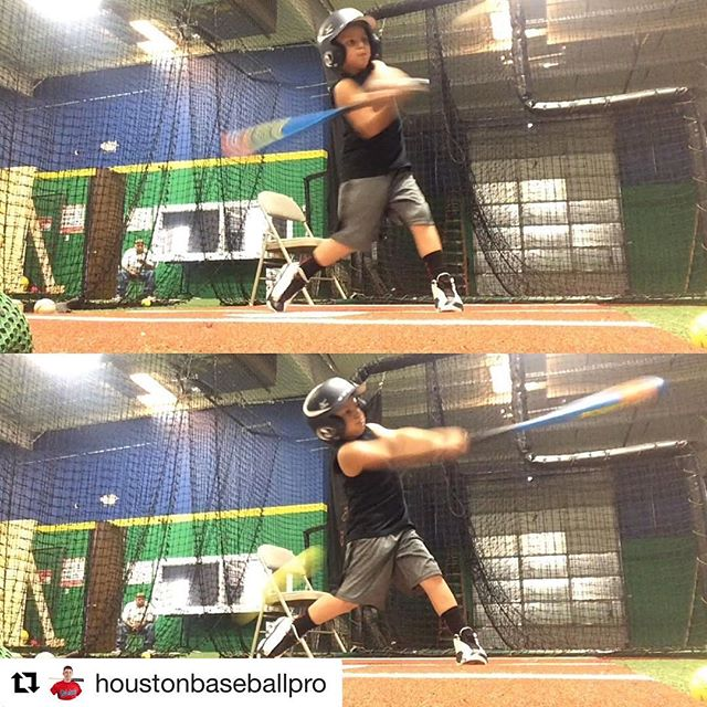 Look at that bat speed! @houstonbaseballpro