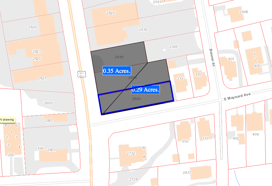 Land Lease oppurtunity 2800, 2806, 2810 N Roxboro Rd. zoned GC & RU5 - click image for more info