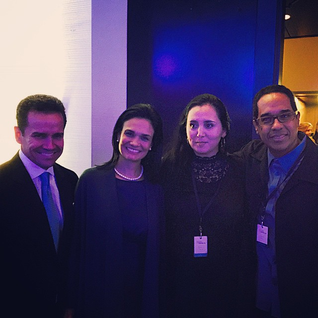 Danilo with his wife, Patricia, Panama VP Isabel St. Malo and husband at the opening of the Forum of the Americas in Miami