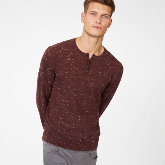 Club Monaco Wool Henley Sweater