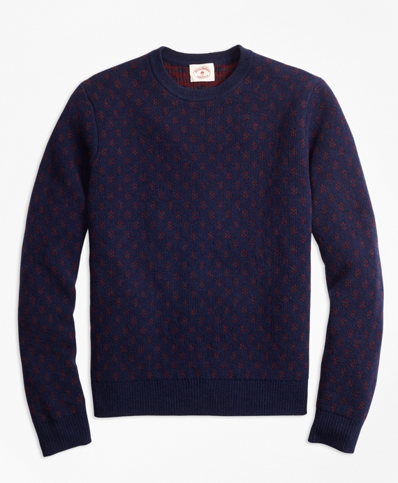 Brooks Brothers Foulard Jacquard Sweater