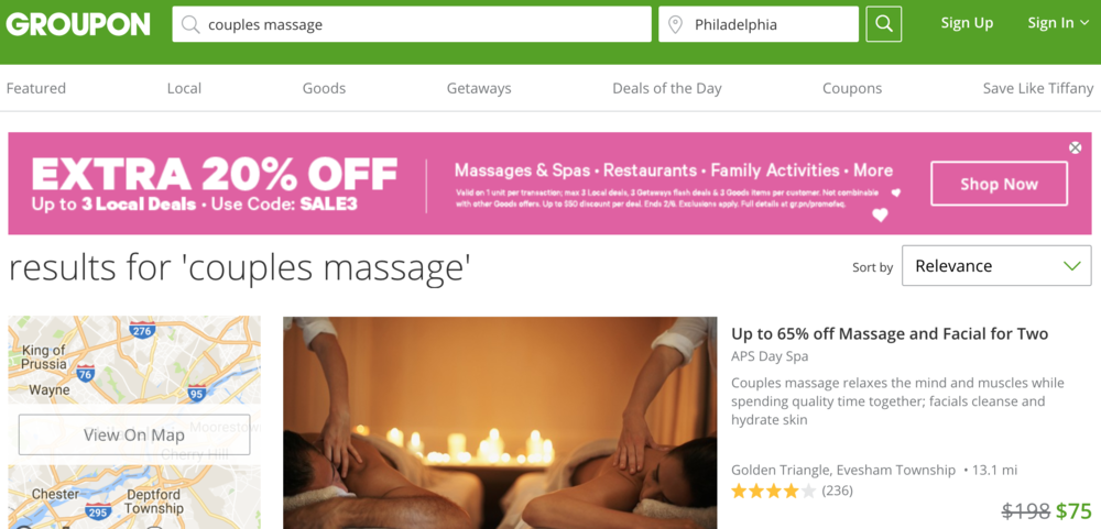 Groupon Couples Massage Coupons - $ varied *