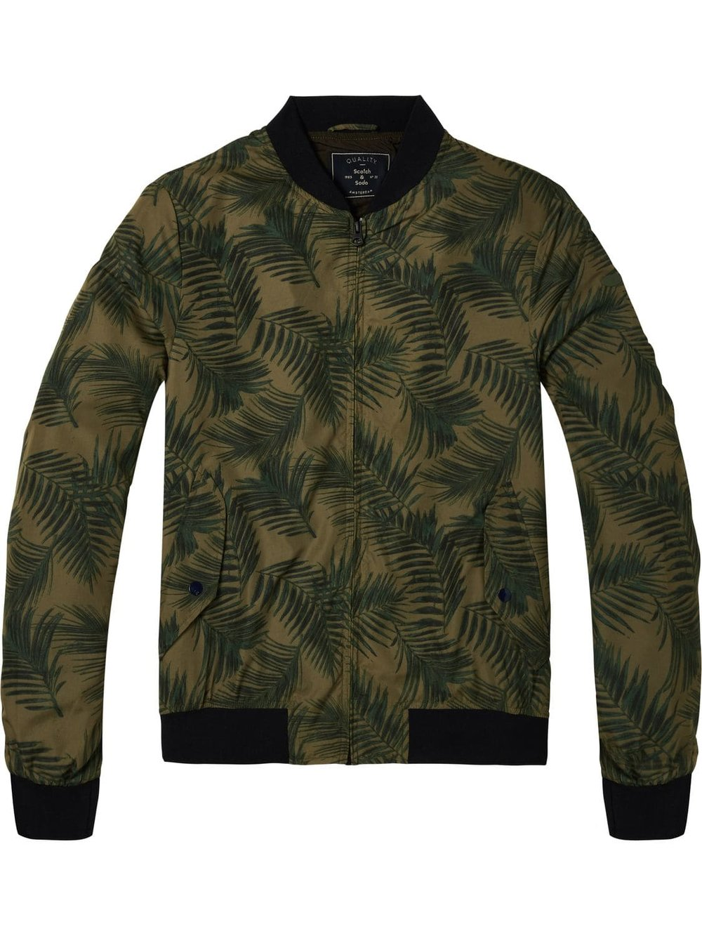 Scotch and Soda printed palms bomber.jpg