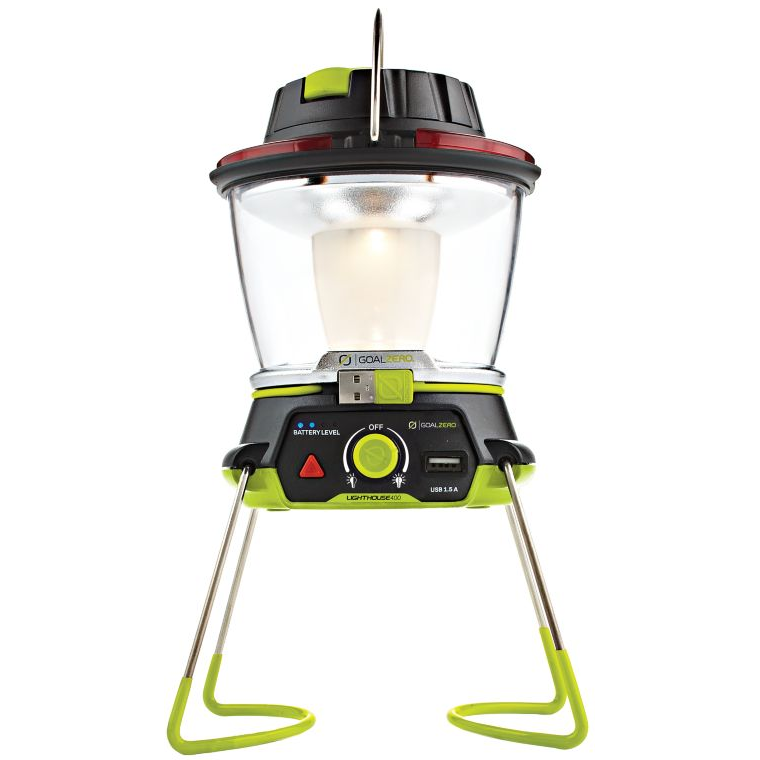 Goal Zero Lighthouse 400 Lantern and USB Power Hub - For the camping dad that also wants to keep in touch. With this lantern, Dad can see what he's doing and power his portable speaker to keep Jerry Garcia bumpin' in the background while he enjoys a cigar under the summer night sky.