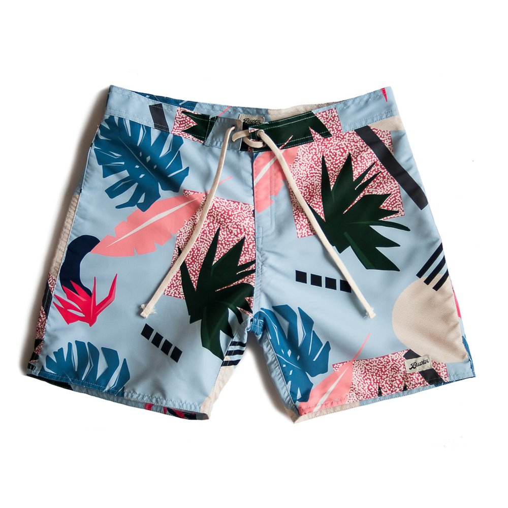 b1132b3c20 Bather Trunk Co. Surfer Trunk - Abstract Palms — What is a Gentleman