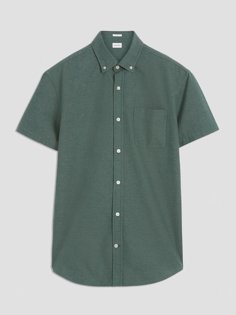 fao marled jasper short sleeve oxford green.jpg