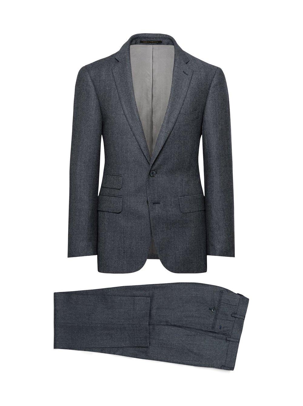 J. Hilburn Storm Blue Nailhead Suit