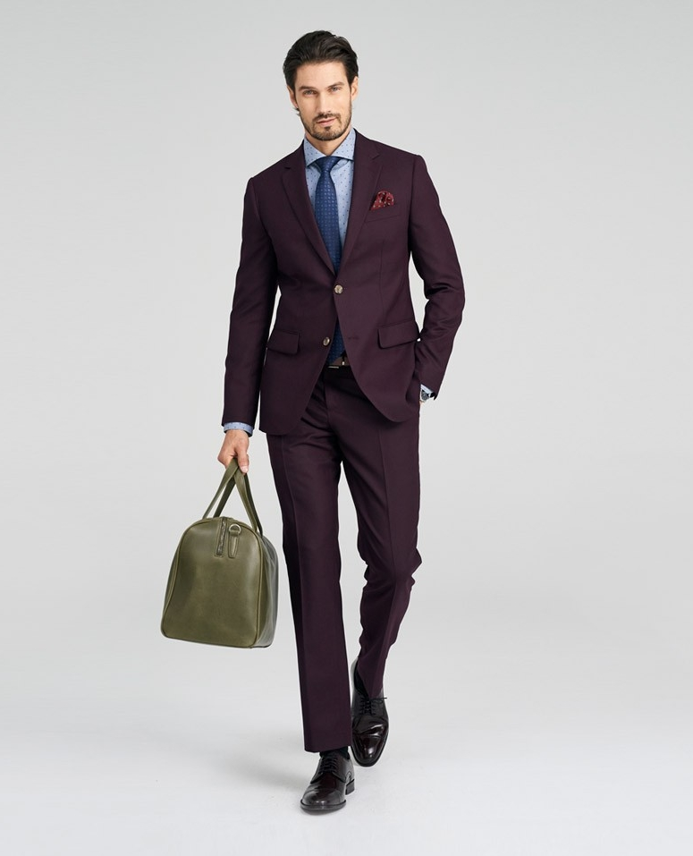Indochino Burgundy Suit