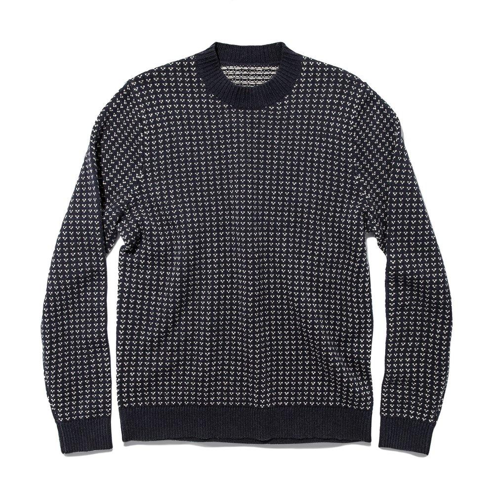 Taylor Stitch Rangeley Sweater in Navy Cash Merino