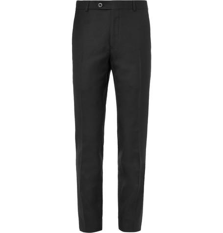 Mr P Black Worsted Wool trousers.jpg