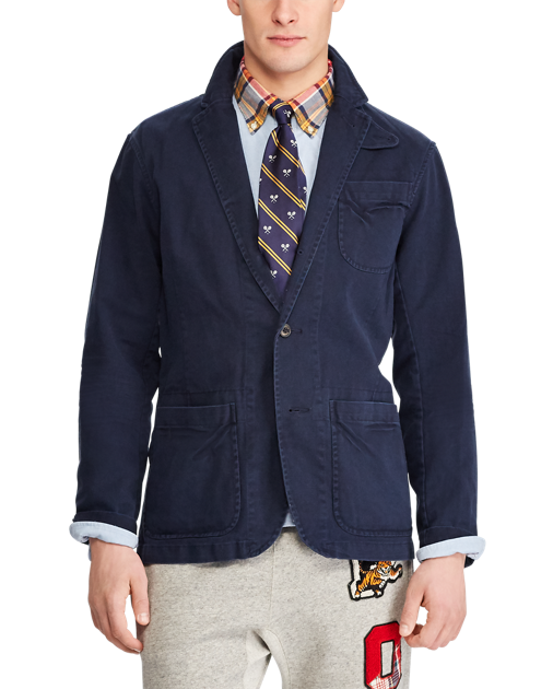 Polo Cotton Chino Sport Coat - Casual and comfy.