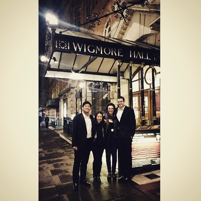 The Verona Quartet after their Final Round Performance at Wigmore Hall in London, UK