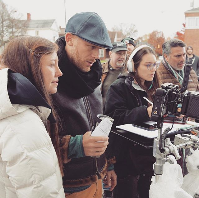 #scriptsupervisor #onset with #dynamicduo Directors, Rebecca and Josh Tickell, and other dept. heads ♥️ #lancaster #ohio #day4of22 photo cred. @chance_foreman