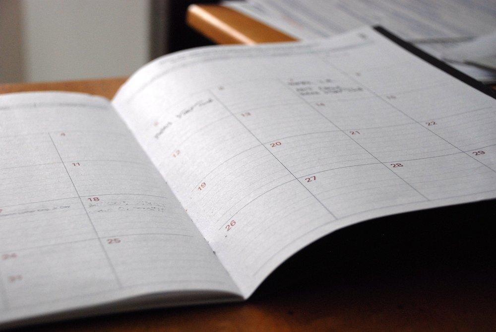 2019 Course Schedule