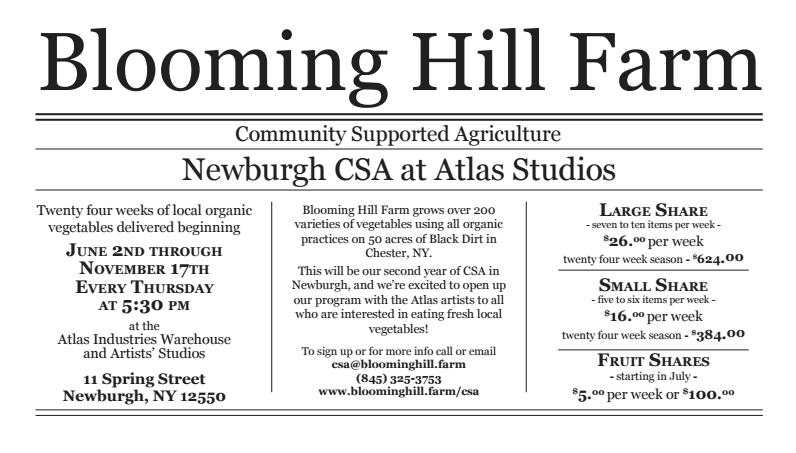 blooming hill farm CSA atlas studios