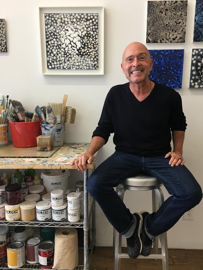 richard bruce in his studio