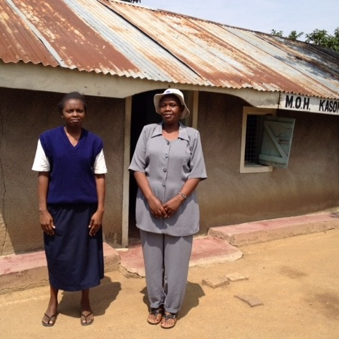 Nurses Jacqueline and Caroline at Kasongo Dispensary, the first pilot site for zidi