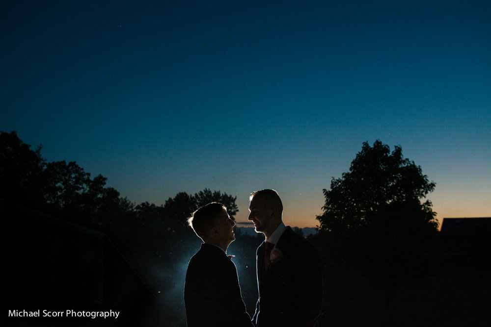 First dance as sun sets and the stars come out