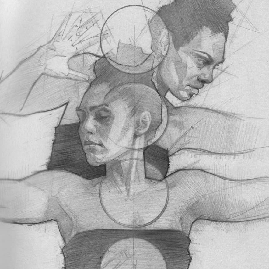 Detail of Chakra Study Sketch