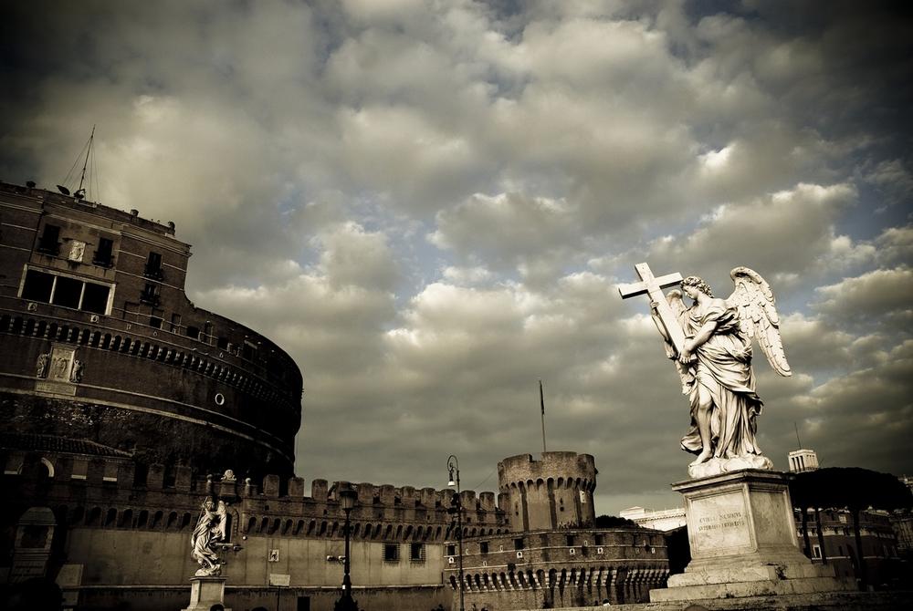 Bernini's Angels, Castel Sant' Angelo, Rome, Italy