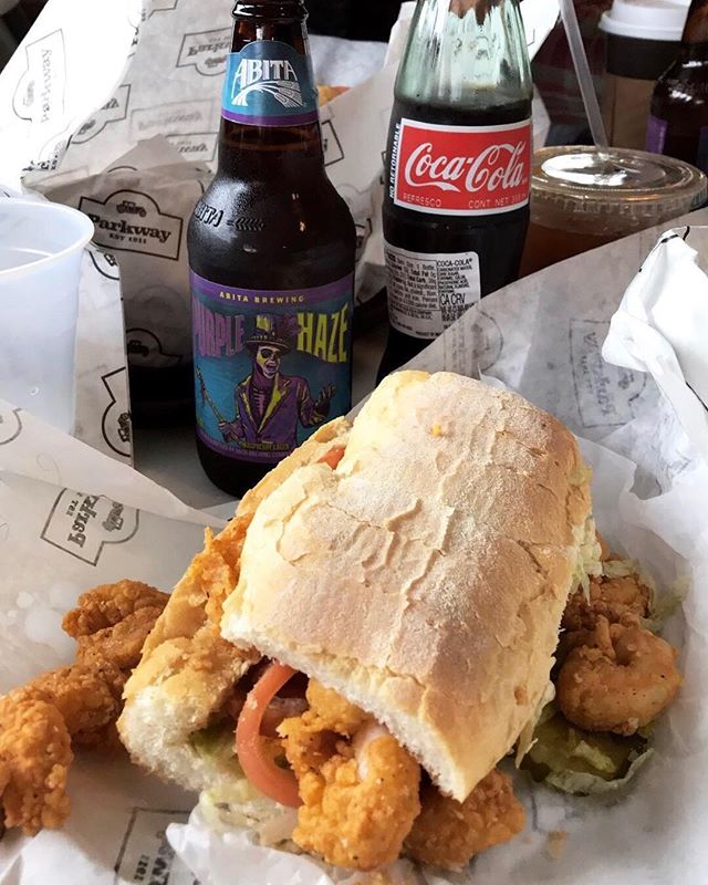 So every time we come to New Orleans my husband insists we go to Domilise's, but after countless locals over the years say they prefer Parkway I finally convinced him to give it a try. No contest! #parkwaywins #daytripper365 #nolaeats . . . , . . . . #wherenolaeats #nolafood #nolafoodie #poboy #poboys #nawlins #neworleansfood #foodporn #foodiegram #food52 #yahoofoods #travelguide #travelgram #mytravel #localfoodie