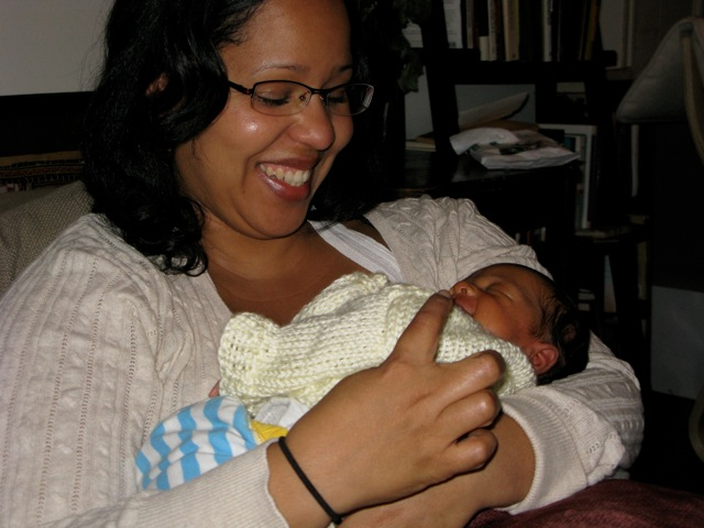 Grace with baby Amaya, 2010.