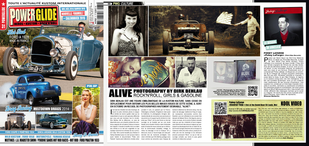 ALIVE Feature in PowerGlide Magazine from France