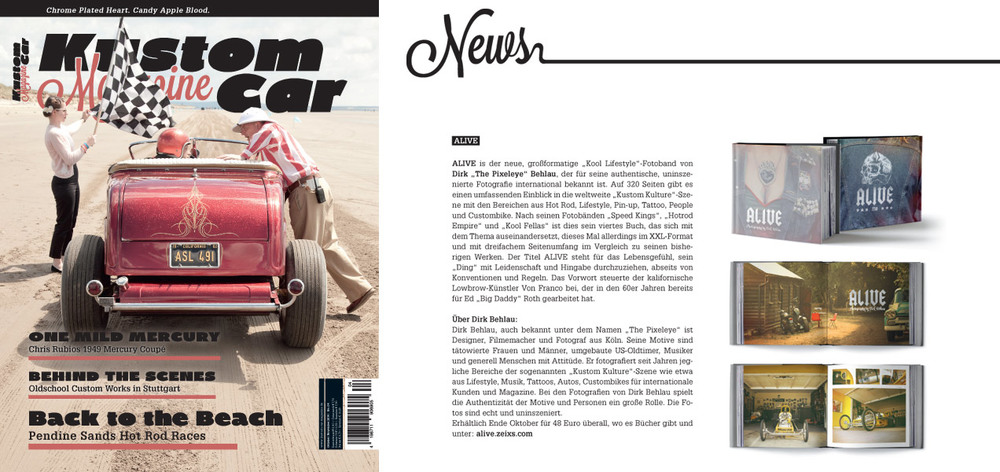ALIVE Feature in Kustom Car Magazine from Germany