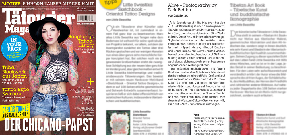 ALIVE Feature in german Tätowier Magazin