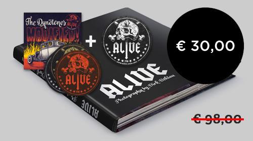 Limited Edition - 100 Ex., signiert + Dynotones CD + 2 Bierdeckel + 3 Sticker