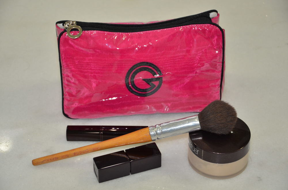 1711- Purse Make-Up.  Shown with vinyl in Cerise Moiré with Black Satin Trim. Available with or without Vinyl. MSRP $62