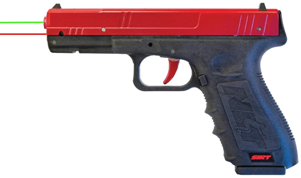 Train more often, more effectively in a more practical environment, The SIRT Training Pistol is designed for high-volume self-diagnostic training with no set up and safe sustainable training. Make better use of your live fire rounds when you've already got hundreds of reps in your in your martial training.