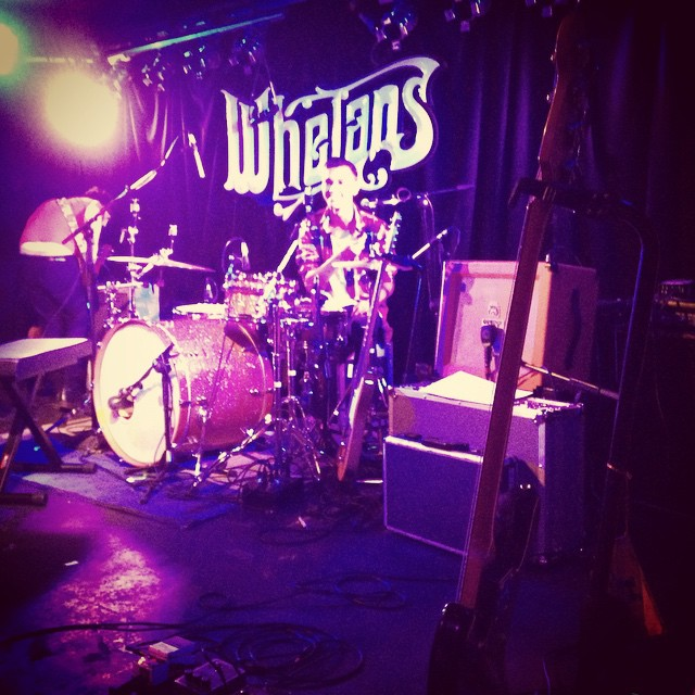 All set up, on at 9:15! #AcrobatBand #Whelans