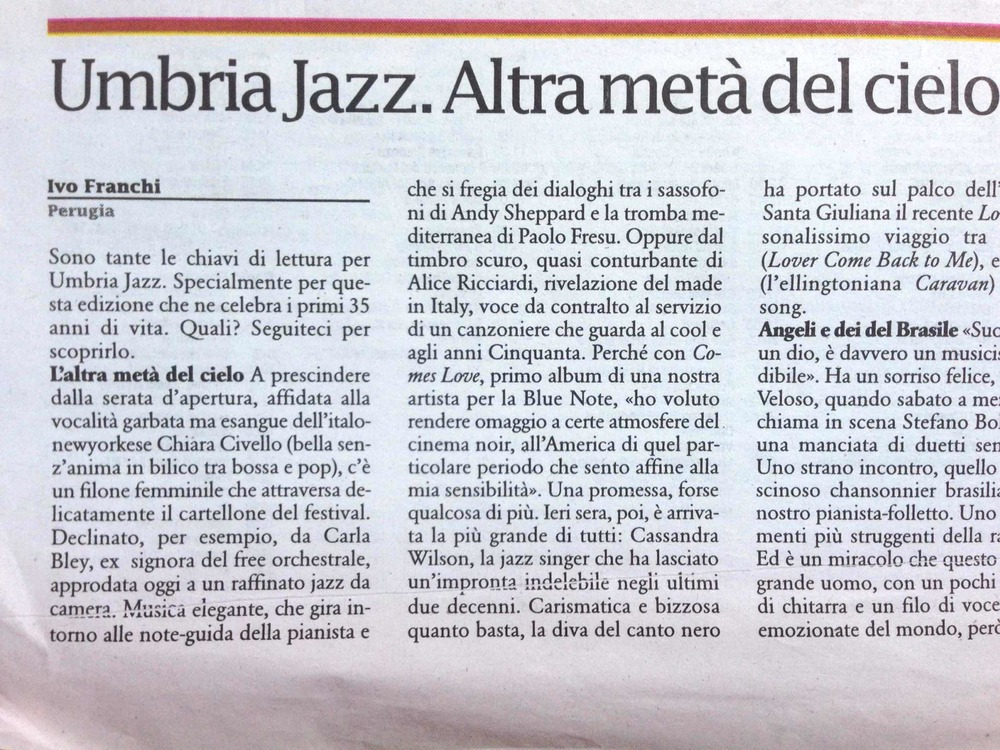 Liberazione - Umbria Jazz Review